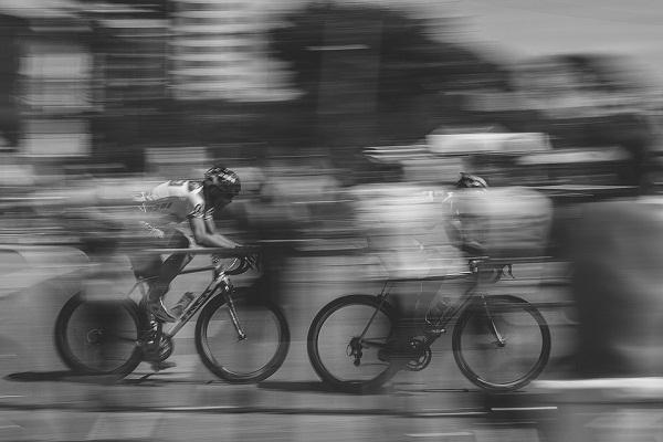 Lean mean speeding machine Zooming through Bengaluru on a cycle