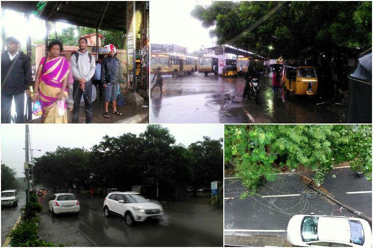 Photos Heavy winds and rains lash Chennai as city braces for landfall of Cyclone Vardah
