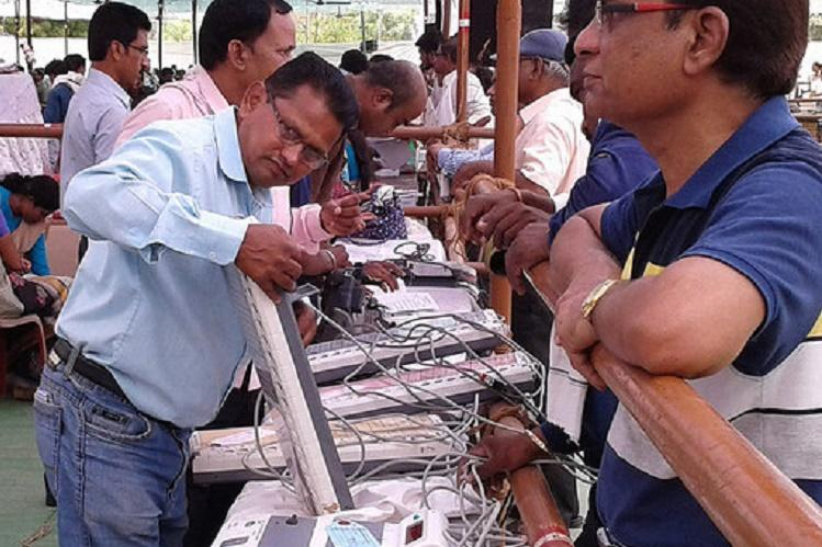 Karnataka polls Election Commission gets EVMs from other states