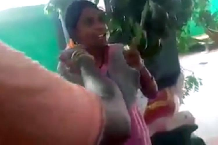Video Dalit woman refused entry into TN temple fights back boldly