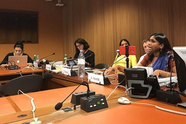 Dalit women present accounts of caste-based violence release report at UNHRC