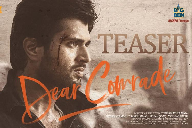 Vijay Deverakonda's 'Dear Comrade' teaser points to an