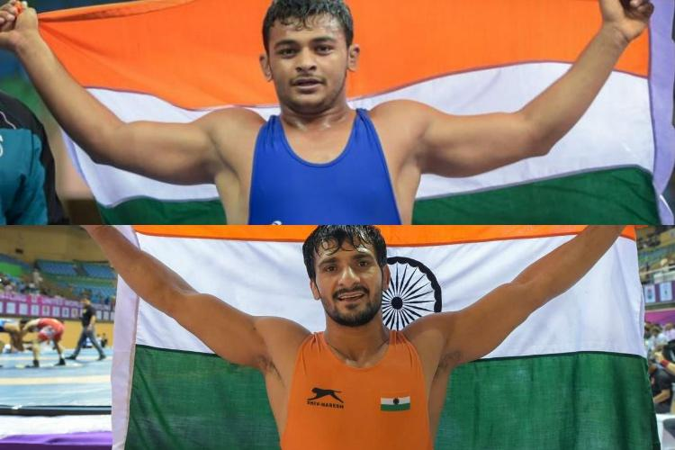 India bags two golds on last day of Asian junior wrestling