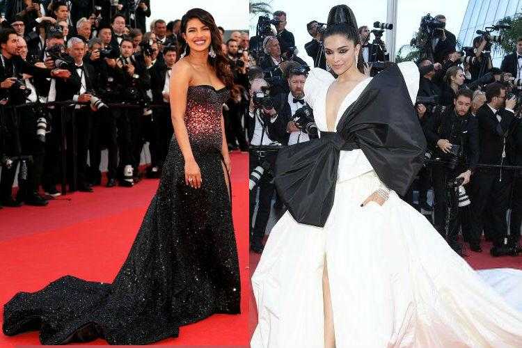 In pictures Deepika Padukone and Priyanka Chopra at Cannes red carpet