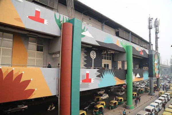 Simply Wow Delhi metro station gets an artistic makeover