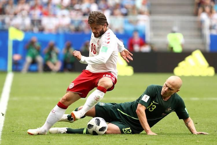 Denmark Australia grind out a 1-1 draw in Group C tie