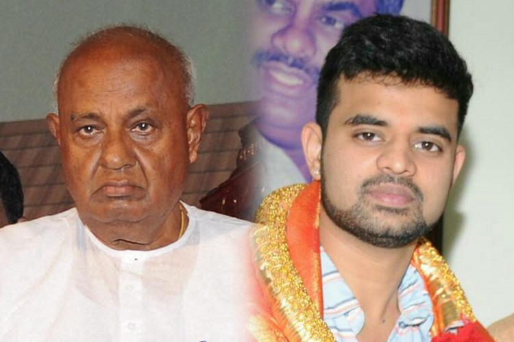 Finally Deve Gowda gives up Hassan seat wait for it for his grandson Prajwal Revanna