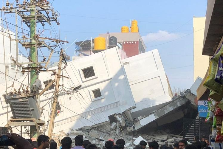 Three killed, 7 injured after under-construction building collapses in Bengaluru