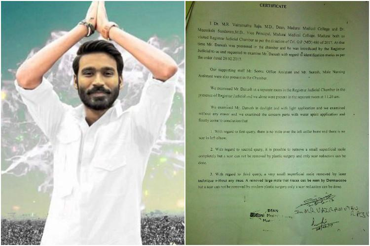 Dhanush medical report is clear no body marks as claimed by Madurai couple say doctors