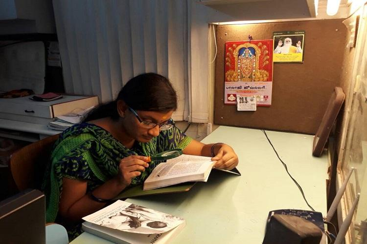 This visually impaired TN girl beat all odds to score 966 in the CBSE Class XII exams