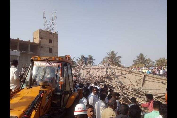 Dharwad building collapse 61 people rescued so far 30 still trapped under debris