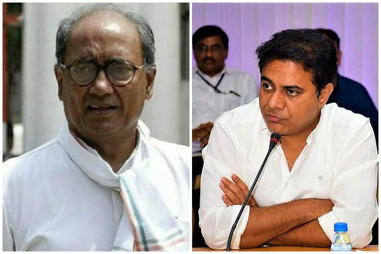 KTR, Digvijay Singh War On Twitter Over Hyd's Drug Scandal Issue