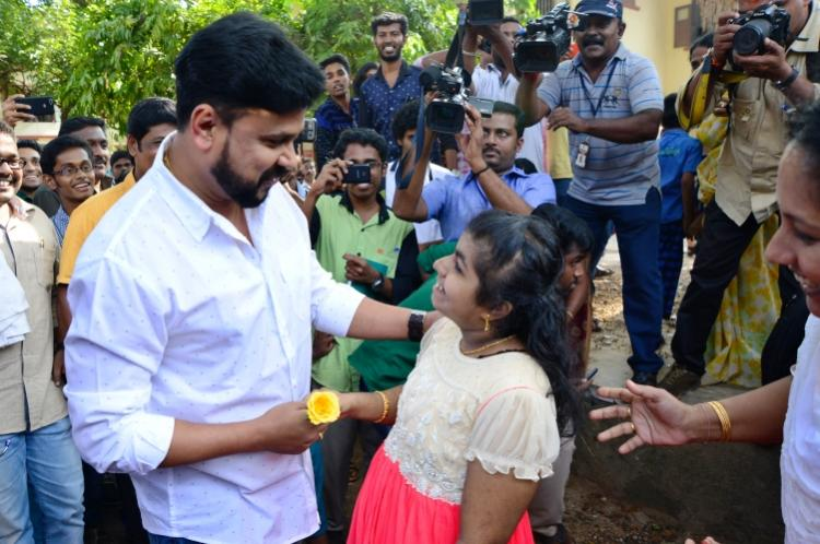 Actor Dileeps day out with an ardent fan - a teenage autistic girl