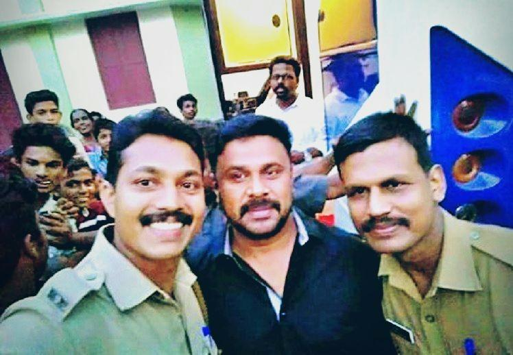 Malayalam actor Dileeps selfie with cops goes viral Heres the truth