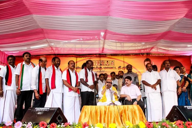In its citadel of Saidapet DMK uses floods and religion to take on AIADMK
