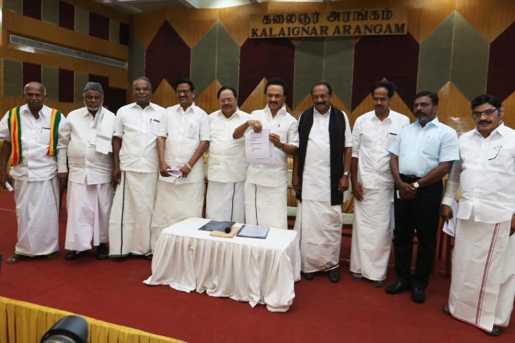 DMK-led alliance announces seat sharing DMK retains all Chennai seats