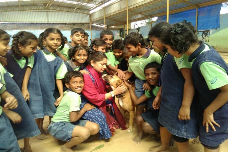 At this Bengaluru school Bianca the dog teaches children life lessons