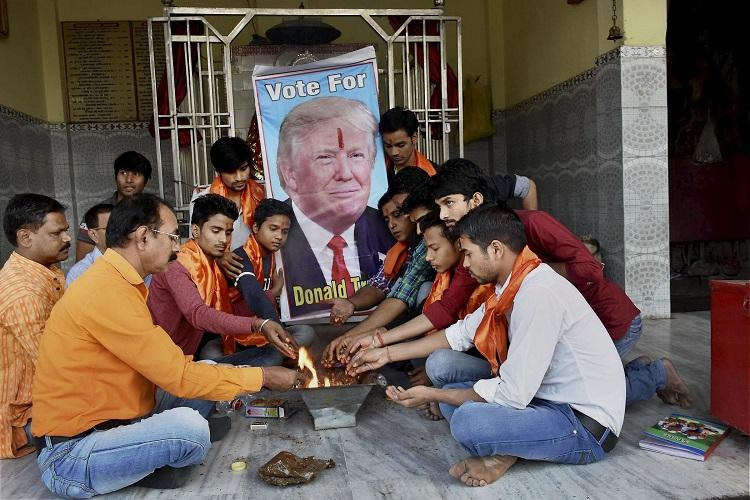 As the US goes to polls Trump and Clinton supporters in India turn to prayer