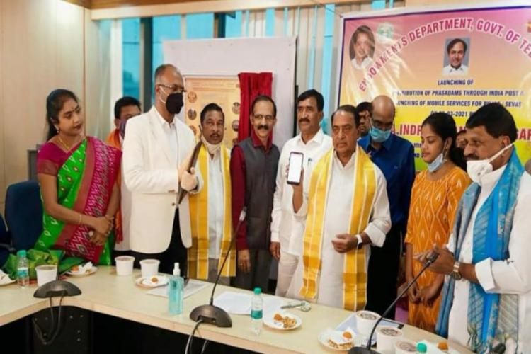 Devotees can now order prasad from ten temples in Telangana via speed post