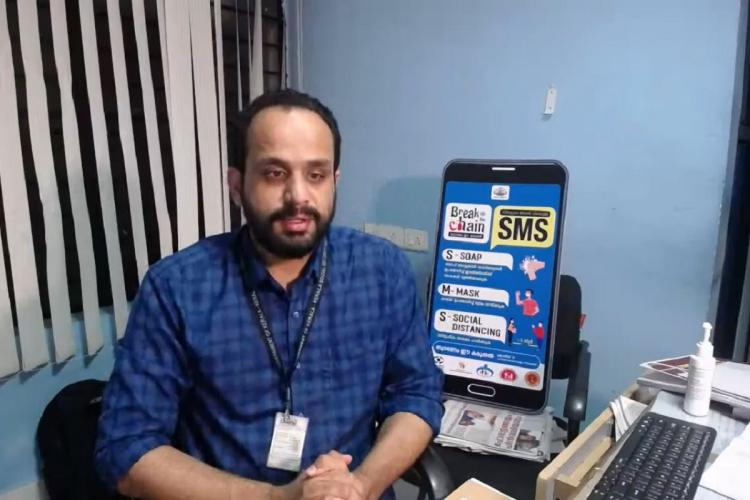 Dr Asheel sits in office space