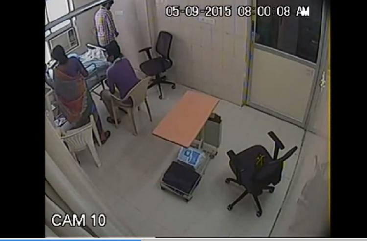 Shocking CCTV footage shows woman doctor pulling the plug off father in ICU in Chennai