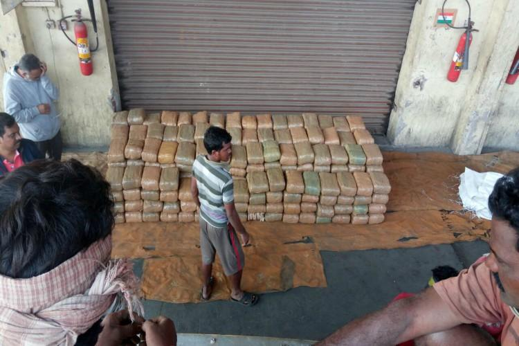 Ganja worth Rs 60 lakh being smuggled to Warangal seized driver held