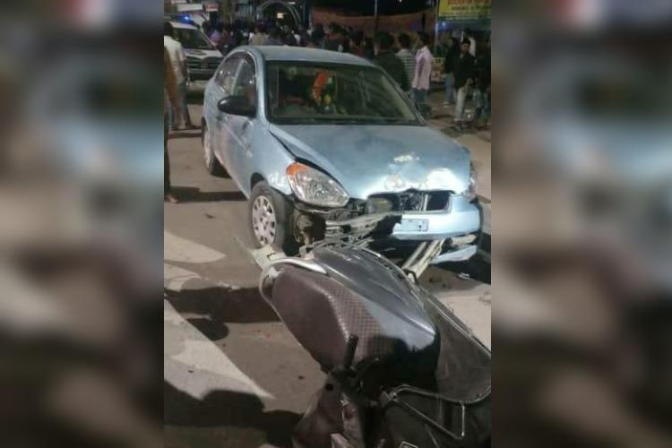 Drunk businessman rams car into vehicles outside Hyderabad cafe one dead