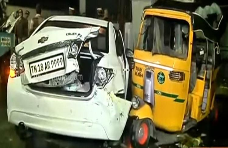 Drunk college students ram parked autos with their car in Chennai one killed
