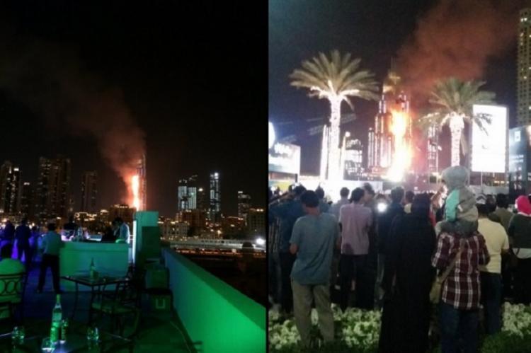 Massive fire breaks out at Dubai skyscraper ahead of New Year celebrations