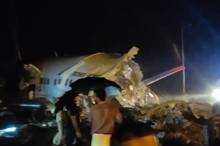 Air India Express flight skids off runway, breaks into two at Kozhikode