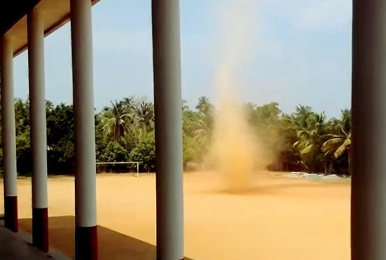 Dust Devil in Kerala Fascinating weather phenomenon caught on camera