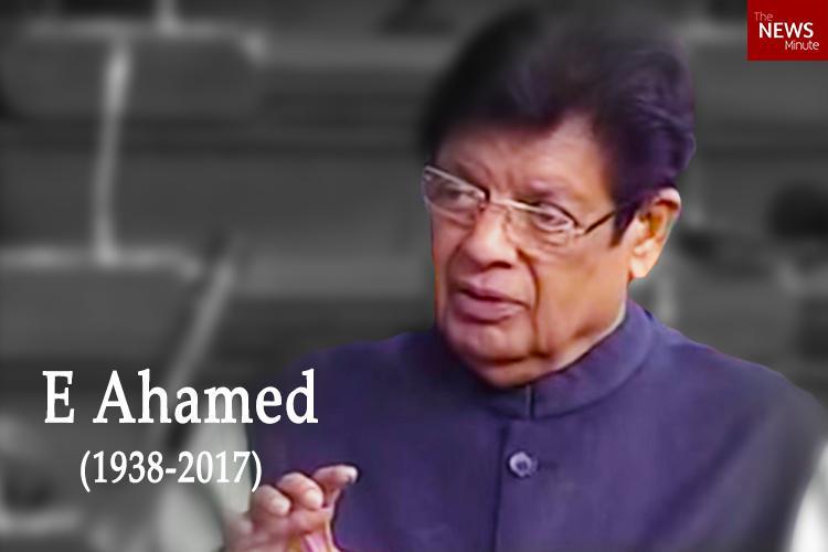 E Ahameds death kept a secret alleges Congress Budget goes on as usual