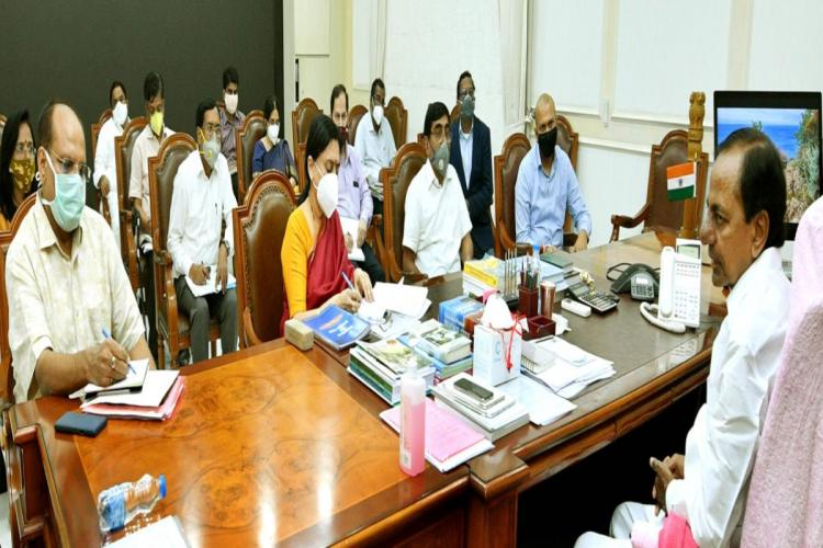 CM KCR held a review meeting on education sector amid pandemic