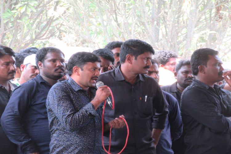 Andhra contract electricity employees step up protest in Vijayawada