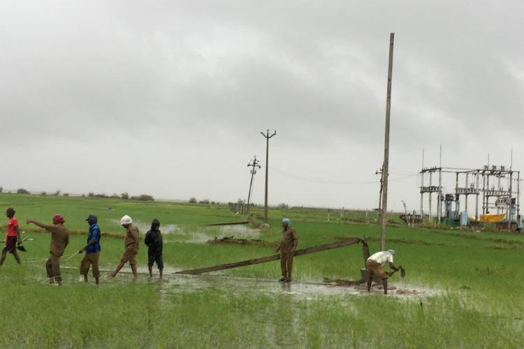 A daunting task These 300 officials are fixing electricity in Nagapattinam post Gaja