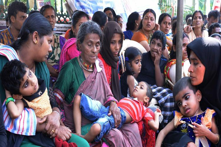 3183 Kerala endosulfan victims yet to be paid Differently-abled kids moms join protest
