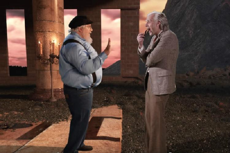 Orcs and ents or dragons and queens Watch RR Martin and JRR Tolkien in an epic rap battle