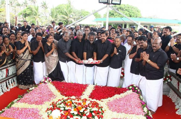 A jog by OPS and jostle for selfies on Jayas death anniversary