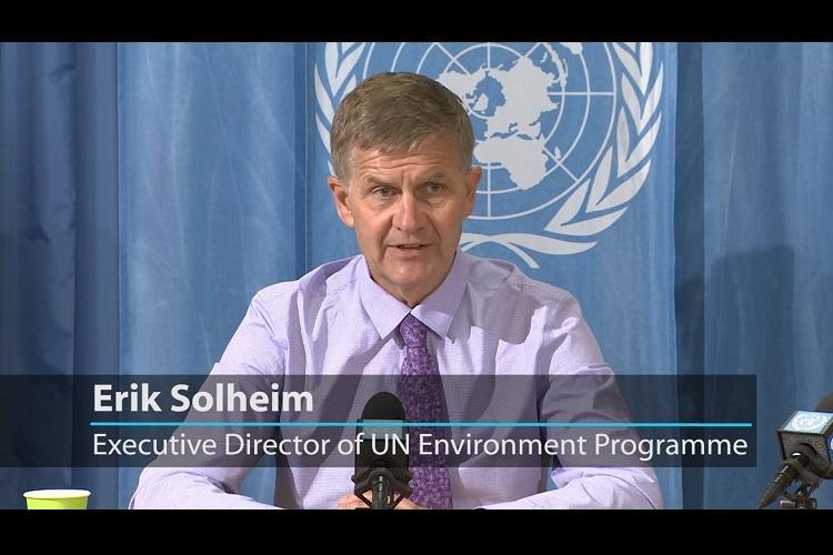 Tackling pollution investing in renewables will help Indias economy UNEP chief Erik Solheim