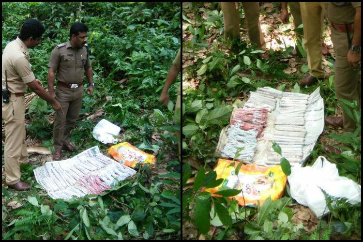 Kerala police seize explosive materials from private land source unknown