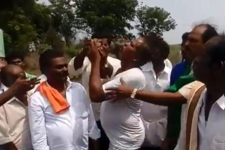 Farmer in Ballari asked to act out suicide for the cameras video goes viral
