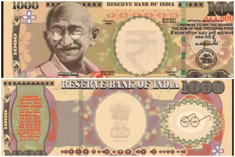 TNM Fact Check The pictures of new Rs 1000 notes are fake