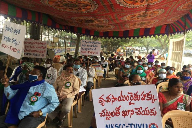 Farmer protest at Dharna Chowk against Union Farm laws
