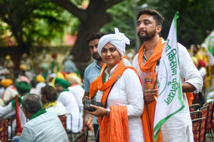 Farmers hold sansad in Jantar mantar in India capital new Delhi