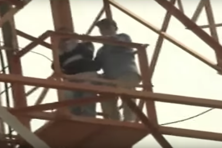 Six students from Andhras Fathima College climb mobile tower and threaten suicide