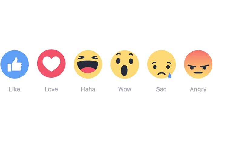 Like button loses monopoly you can now Love Haha be Sad or Angry on a Facebook post