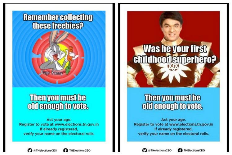 Check out the superb posters TN election commission is putting out to encourage voters