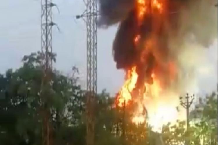 fire breaks out in Nalgonda
