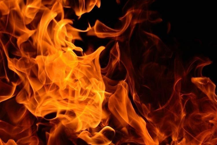 Photo of a raging fire