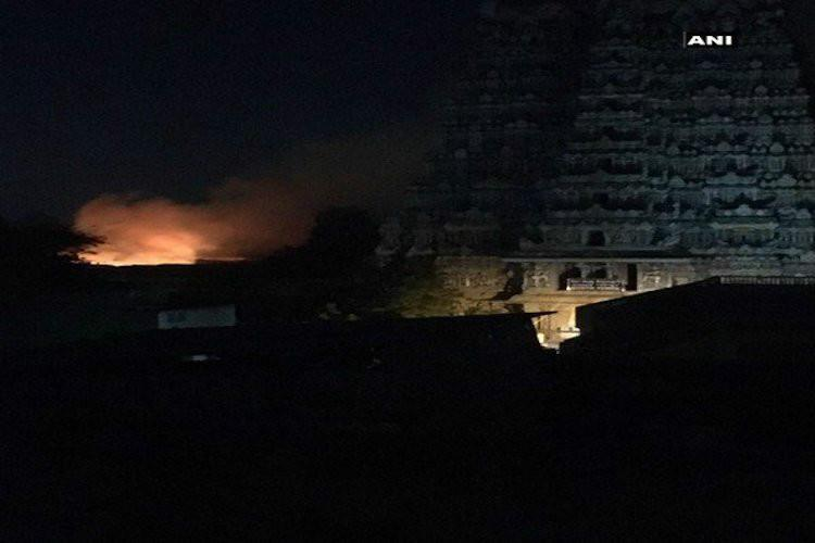 Fire breaks out in Madurai Meenakshi temple over 30 shops gutted